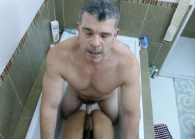 Daddy and Robin Cum Clean